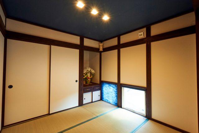 玄関から直接つながる和室は来客時に重宝する便利な空間